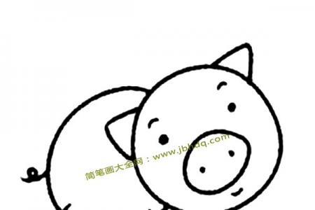 呆萌小猪简笔画图片