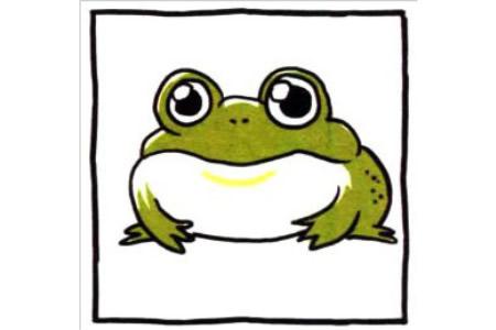 四步画出可爱简笔画 大眼睛大嘴巴的青蛙