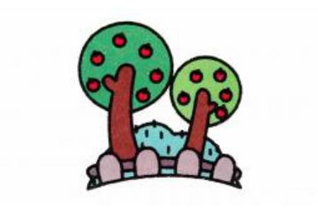 果园里的果树简笔画