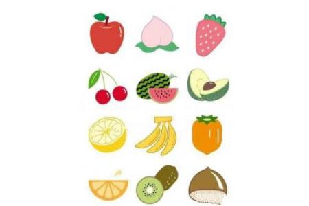 幼儿园彩色水果简笔画