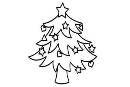 幼儿园中班漂亮圣诞树简笔画