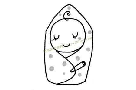 形形色色的人物婴儿简笔画教程