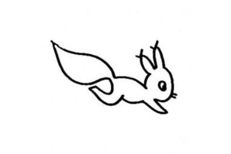 儿童学画的松鼠简笔画