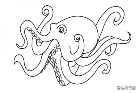 章鱼简笔画怎么画