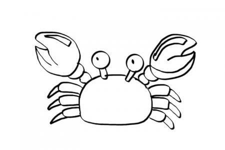8张卡通小螃蟹简笔画的画法