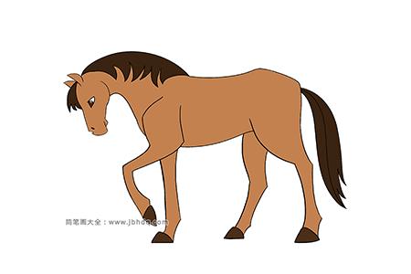 英俊的小马简笔画图片