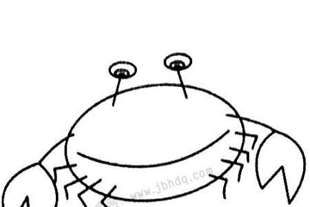 螃蟹简笔画大全及画法步骤