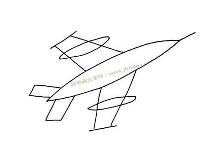 简单的战斗机怎么画