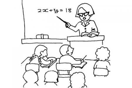 3张上课的老师简笔画图片