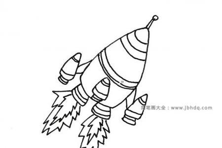 起飞的火箭简笔画