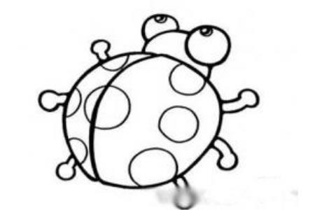 强大的七星瓢虫简笔画