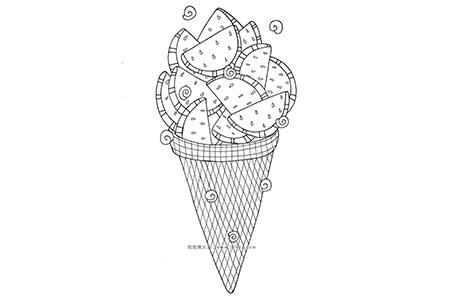 西瓜冰激凌