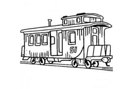火车简笔画大全 火车车厢简笔画图片