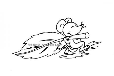 调皮的小老鼠简笔画