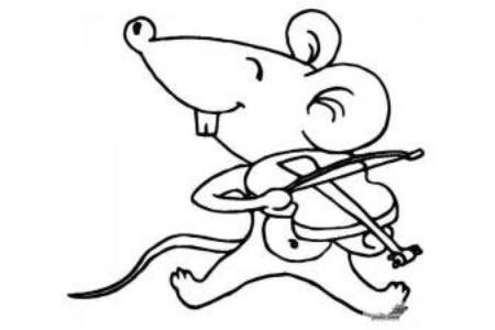 一组卡通老鼠的简笔画图片