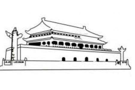 北京天安门简笔画图片