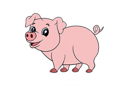开心的可爱小猪