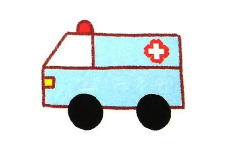 运用简单几何图形画救护车