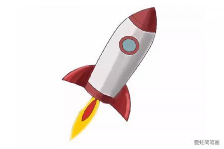 火箭简笔画怎么画