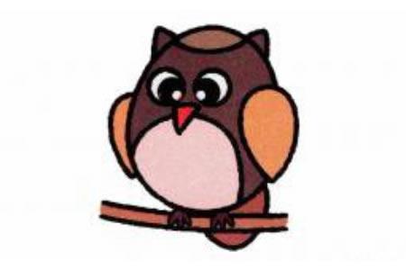 猫头鹰简笔画画法