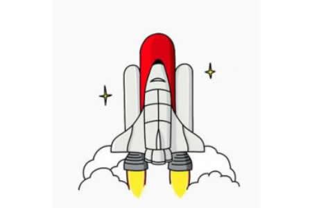 航天飞机简笔画画法