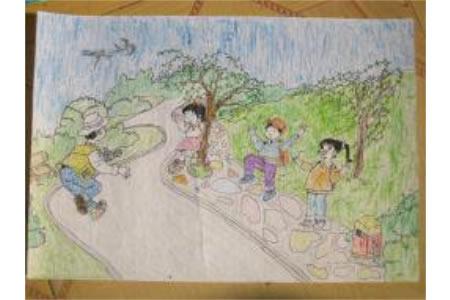 儿童画雷锋图像-快乐的生活
