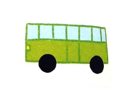 运用简单几何图形画公共汽车