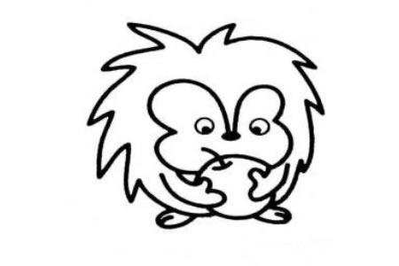 动物简笔画 卡通刺猬简笔画图片