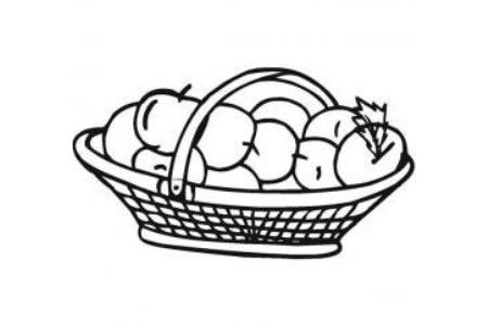一篮苹果怎么画