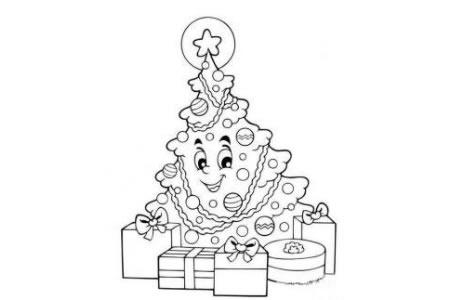 2016卡通圣诞树简笔画