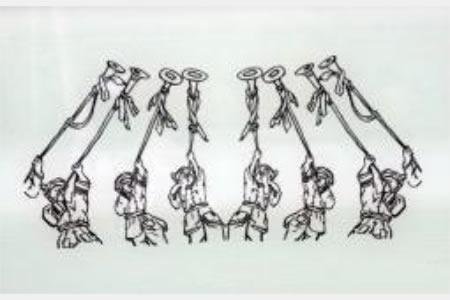 少数民族庆国庆的简笔画