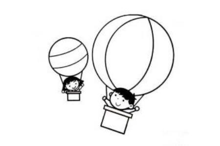 交通工具简笔画 热气球简笔画图片