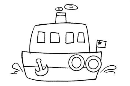 Q版交通工具 轮船