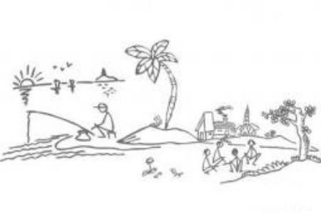 小学生椰子树简笔画设计素材