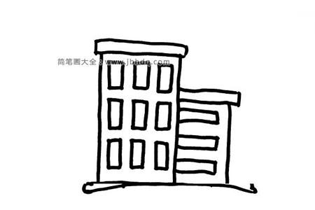 6张小楼房的简笔画图片