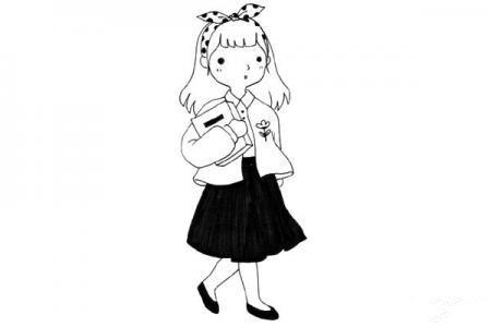 超可爱的小仙女人物简笔画