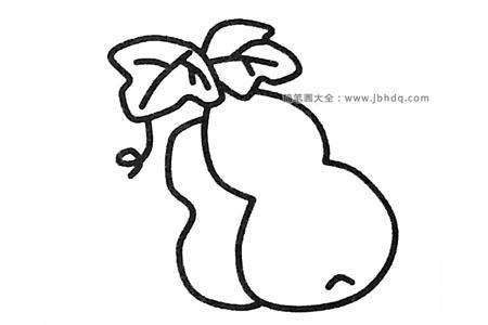 四步学画葫芦简笔画