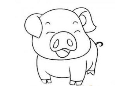 开心的小猪