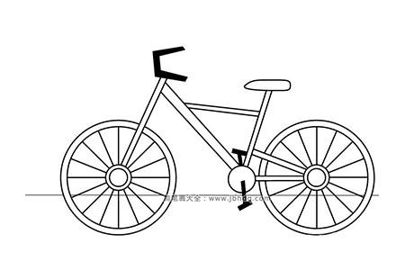 简笔画图片自行车