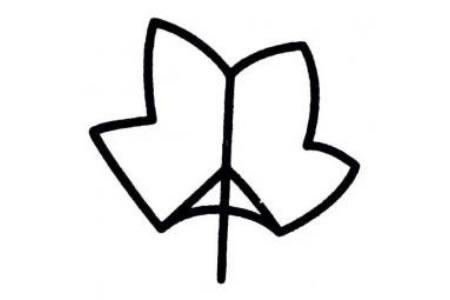 幼儿树叶简单画法