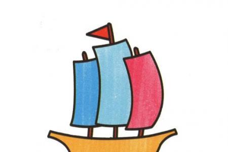 幼儿简笔画 帆船