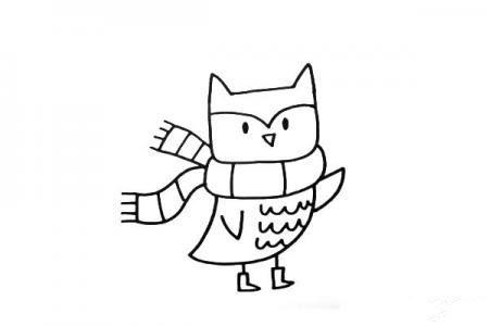 简笔画猫头鹰