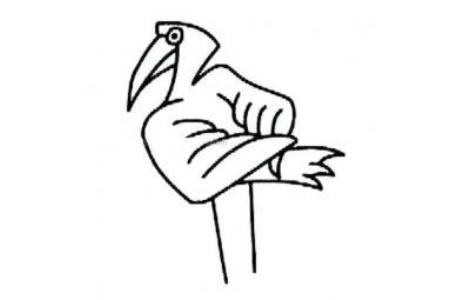 超简单的幼儿火烈鸟简笔画