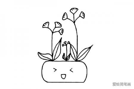简约可爱小绿植简笔画