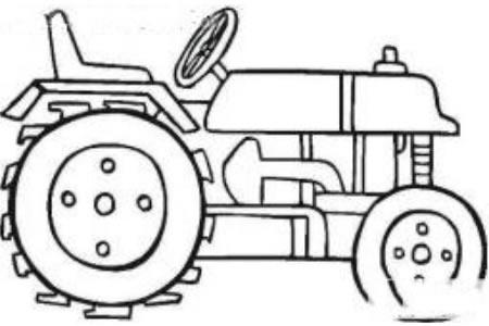 拖拉机简笔画图片