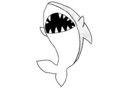 鲨鱼简笔画教程