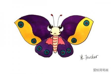 怎么画蝴蝶