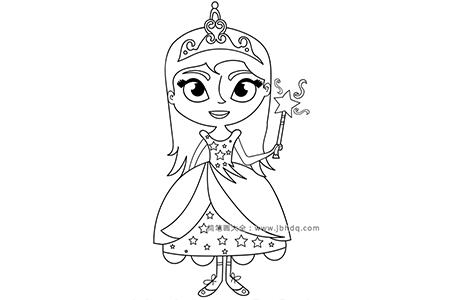 拿着魔杖的公主