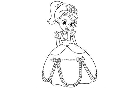 穿着漂亮公主裙的公主