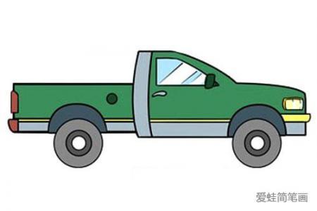 很容易画的卡车简笔画教程